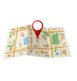 Map with red pointer vector