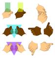 Set hands vector