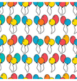 Seamless holiday background with balloons vector