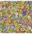 Seamless tea doodles abstract pattern vector