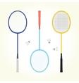 Badminton set vector