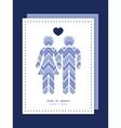 Purple drops chevron couple in love silhouettes vector