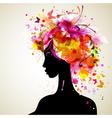 Artistic woman sillhouette design vector