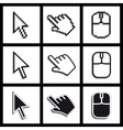 Hands cursors vector