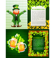 Collection of saint patrick s day background vector