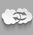 White cloud computing sink icon vector