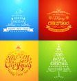 I wish you a merry christmas and happy new year vector