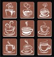 Abstract coffee cup vector