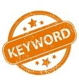 Keyword grunge icon vector