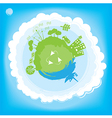 Think green ecology concept vector