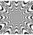 Monochrome abstract funnel explosion background vector