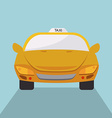 Taxi design over blue background vector