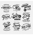 Black and white artistic fashion labels vector