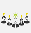 Concept of leadership and new idea business people vector