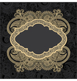 Dark ornate floral background vector