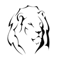 Lion head on a white background vector