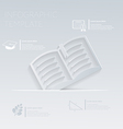Open book template graphic or website layo vector