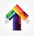 Modern design minimal arrow style infographic vector