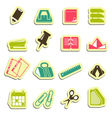 Office accessories icons vector