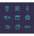 Media or multimedia icon set vector