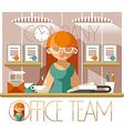 Office team secretary vector