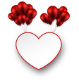 Celebrate love background with red balloons vector