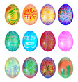 Set of colorful easter egg vector