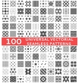 100 universal different seamless patterns vector