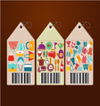 Shopping icons and universal tags set icons shape vector