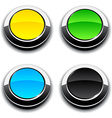 Round 3d buttons vector