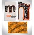 Ancient business card design letter m vector