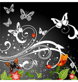 Grunge butterfly background vector