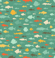 Seamless sea pattern vector