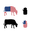 American milk cow vector