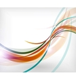 Colorful wave lines patterns business card vector