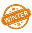 Winter grunge icon vector