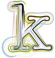 Organic font letter k vector