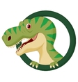 Dinosaur cartoon character vector