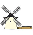 Stone windmill vector