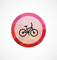 Bike circle pink triangle background icon vector