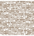 Town concept background pattern seamless 3 vector