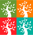 Set of colorful season tree bold icons vector