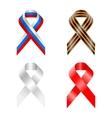 Retro ribbon russia russian scroll stylized symbol vector