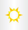 Yellow sun sunshine icon background design vector
