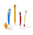 Cartoon stationery items vector