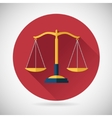 Law balance symbol justice scales icon on stylish vector