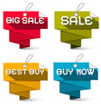 Sale labels set isolated on white background vector