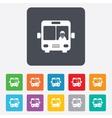 Bus sign icon public transport symbol vector