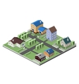 Residential house buildings vector