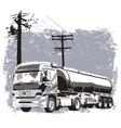 Liquid truck vector